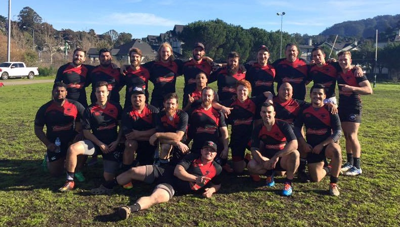 Chico Men's Rugby team photo march 2017