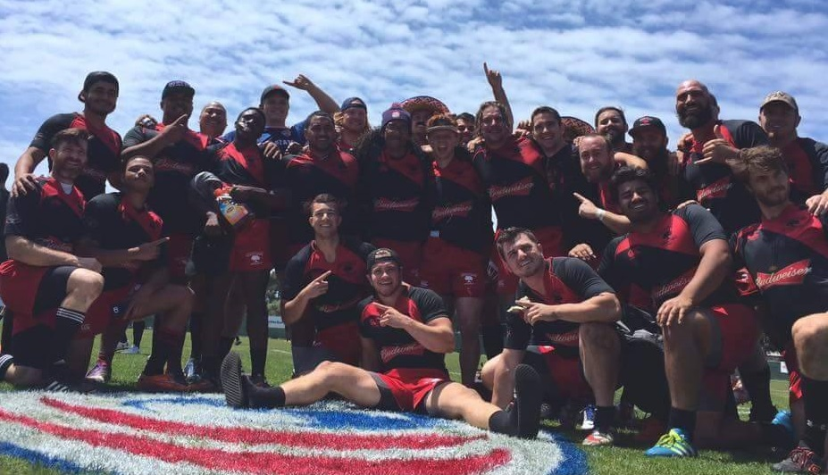 Chico Men's Rugby Club after taking down the Eugene Stags